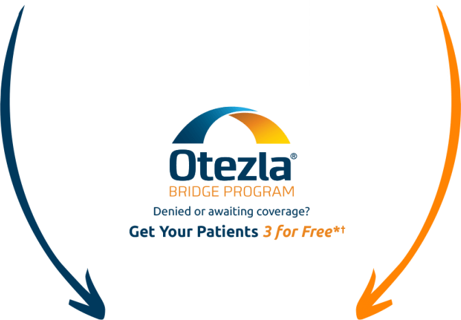 Diagram that explains how to start Otezla® from an in-office Starter Pack or from a 28-Day Pack from a specialty pharmacy